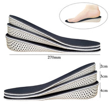 Load image into Gallery viewer, Memory Foam Invisible Height Increase Insoles Elastic Shock Absorbing Shoe Inserts Soft Breathable Orthotic Insoles