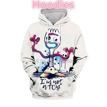 Load image into Gallery viewer, Forky new Toy Story 4 The Walking Toys 3d t shirt/hoodies/sweatshirt Sherif Woody Cartoon Buzz Lightyear tee Women Men