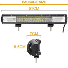 Load image into Gallery viewer, 20 Inch 1440W LED 144000LM  LED Work Light Bar Spot Flood Combo Beam Lights Driving Fog Light For Jeep Boat 4WD Off-road SUV UTV ATV Car 6000K Waterproof IP68