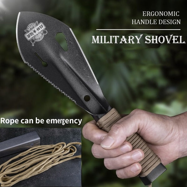 Serrated Edge Digger Metal Detecting Garden Detector with Sheath Stainless Steel Shovel