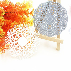 Lovely Flower Doily Die Cuts Metal Cutting Dies for DIY Scrapbooking Card Decor Embossing Stencils Craft dies