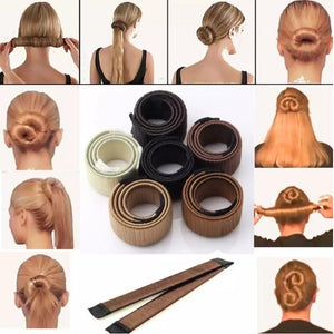 Women Hair Styling Hair Donut Former Foam French Twist Magic DIY Tool Bun Maker Clip Curler Roller Tool Hair For Girl Ladies