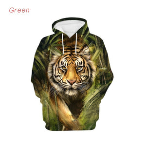 Tiger Hoodie Men Funny Cool 3D Printed Hoodies New Autumn Streetwear Style Hip Hop Casual Sweatshirts