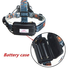 Load image into Gallery viewer, 3 LED XM-L2 T6 Headlamp Headlight+2x18650 Battery+US/EU Charger+Car Charger