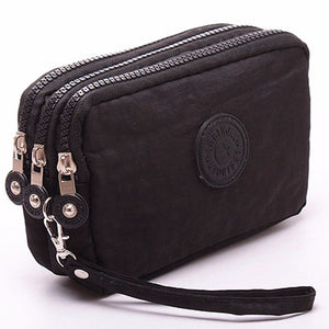 New hot  fashion 1Pcs 3-layer Mobile Phone Bag Lady Purse Fashion Women Wallet
