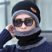 Load image into Gallery viewer, Winter New Windproof Scarf Men and Women Hat Wool Hat Winter Hat Hot Peas Hat Hooded Scarf Knit Hat