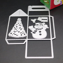Load image into Gallery viewer, Christmas Candy Gifts Boxes Metal Cutting Dies for Diy Paper Candy Bag Embossing Die Cut Stencil