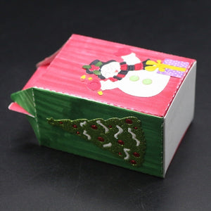 Christmas Candy Gifts Boxes Metal Cutting Dies for Diy Paper Candy Bag Embossing Die Cut Stencil
