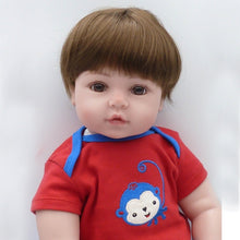 Load image into Gallery viewer, Reborn Baby Doll 48cm Lifelike Full Silicone Vinyl Body Newborn Dolls for Kids Birthday Christmas Gifts