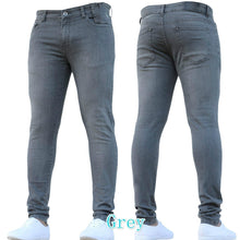 Load image into Gallery viewer, New Men Fashion Autumn Winter Denim Pants Casual Skinny Jeans Denim Trousers