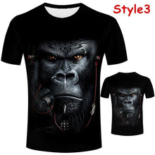 Load image into Gallery viewer, Personality 3D Print T-shirt Funny Orangutan/monkey Print Mens Tees Tops