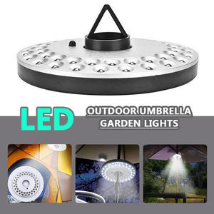 New 48/36/24/6LED Umbrella Pole Light Camping Tent Light Lamp Night Lights For Outdoor Garden Yard Lawn