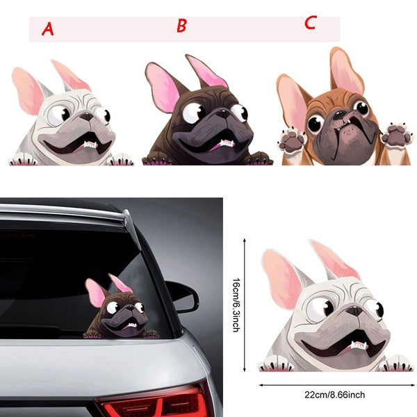 1pcs 3D Lovely Cartoon Dog Car-Styling Vehicle Window Decals Car Sticker Decoration