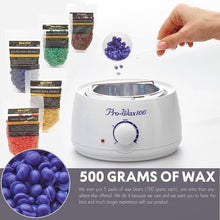 Load image into Gallery viewer, New Hair Removal Electric Home Waxing Kit Hot Wax Warmer Wax Heater Rapid Melt Hard Wax with 300g Hard Wax Beads and Wax Applicator Sticks 50 PCS For Women and Man