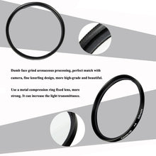 Load image into Gallery viewer, New 37mm / 40.5mm / 43mm / 46mm / 49mm / 52mm / 55mm / 58mm / 62mm / 67mm / 72mm / 77mm / 82mm Macro Close-Up Filter Lens Kit for Nikon Canon Sony Pentax Fuji Olympus Panasonic  Camera DSLR SLR