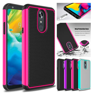 For LG Stylo 5 Case,Dual Layer Shockproof Anti-Scratch Rugged Armor Defender Protective Case for LG Stylo 5