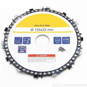4/4.5/5 Inch Grinder Chain Disc Wood Carving Disc Saw Blade Fine Cut Chain Set for 100/115/125 Angle Grinder