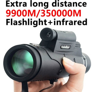 Extra Long 9900M/350000M Compass Flashlight+infrared Distance Night Vision High - Angle Monocular Telescope Laser Outdoor Hiking Travel Portable Telescope Fashion Accessories Tool
