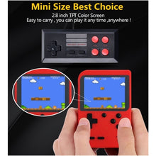 Load image into Gallery viewer, Portable Handheld Game Players Retro Game Console Built-In 400 Games Support 2 Player 8-Bit 3.0 Inch for Child Nostalgic Can Connect To TV
