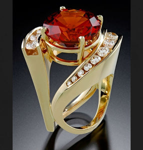 Fashion Luxury New Design Modern Women's Gold Jewelry 925 Sterling Silver Yellow Gold Natural White Sapphire Ruby Diamond Ring Europe and America Women's Engagement Wedding Ring Anniversary Gift rings for women Jewelry Size US5-11