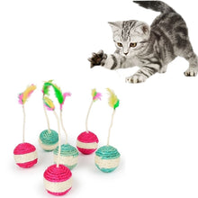Load image into Gallery viewer, Pet Cat Kitten Toy Rolling Sisal Scratching  Cat Toy Funny Kitten Play Dolls Becudda