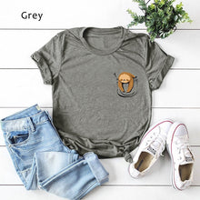Load image into Gallery viewer, 3 Color Summer New Women Fashion O-neck Short Sleeve Funny Print Shirt Cute Sloth Print Tops Summer Casual Comfort Tops Tee S~5XL