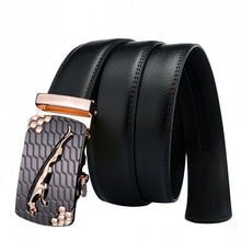 Load image into Gallery viewer, Leather Belt Automatic Buckle Belt Ratchet Leather Belts for Men Waist Band