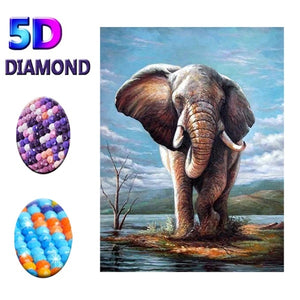 DIY Full 5D Diamond Painting Animal 'Elephant' Diamond Embroidery Craft Cross Stitch Home Decor