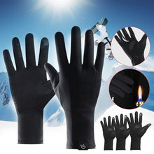 Load image into Gallery viewer, Ultralight Winter Gloves Windproof Waterproof Cycling Thermal Warm Full Finger Gel Palm Touch Screen Gants Handschuhe
