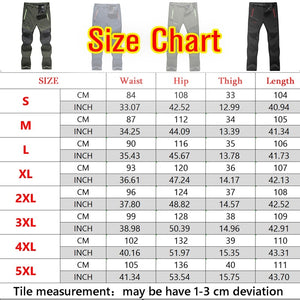 Men Outdoor Thin Waterproof Hiking Pants Trouser Male Camping Climbing Fishing Trekking Softshell Long Pants Plus Size (No Fleece)