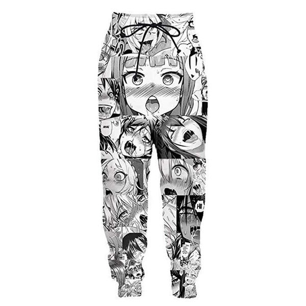 Alisister Ahegao Joggers Pants Men's Funny Cartoon 3D Trousers Sweatpants
