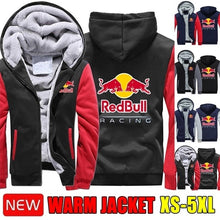Load image into Gallery viewer, New Mens Autumn and Winter Warm Jacket Fleece Sweatshirts Thicken Coats Cotton Jackets Racing Motorcycle Motocross Bike Jacket