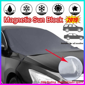 2019 New Magnetic Edges Car Snow Cover Frost Car Windshield Snow Cover Frost Guard Protector Car Sun Shade Cover Waterproof Windshield Protector For Car/Truck/SUV
