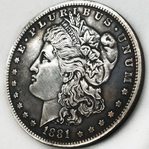 10/28 Pcs US Coins 1878-1921 Full Set Morgan Dollar Antique Ancient Copy Silver Coins Liberty Coins Collection