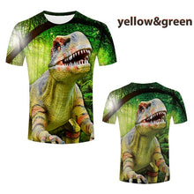 Load image into Gallery viewer, Boys Girls Fashion Dinosaur 3D Printed T-shirt Kids Short-sleeved Tees