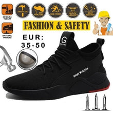Load image into Gallery viewer, NEW Fashion Steel Toe Shoes Kevlar Fiber Safety Shoes Breathable Steel Toe Work Shoes for Men Size 35-50