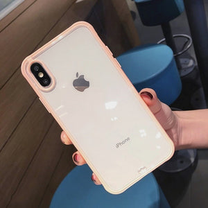 Shockproof Bumper Transparent Silicone Phone Case For iPhone X XS XR XS Max 8 7 6 6S Plus Clear protection Back Cover