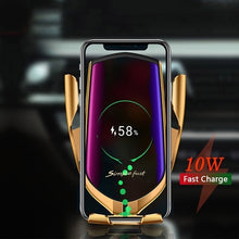 Load image into Gallery viewer, FDGAO Automatic Clamping Wireless Car Charger 10W Fast Charging Air Vent Car Phone Holder Beautiful 2 Color for Iphone X XS XR 8Plus 8 Samsung S10 S9 S8 S7 S6 Note 9 8 5 Huawei P30 Por Mate 20 Por