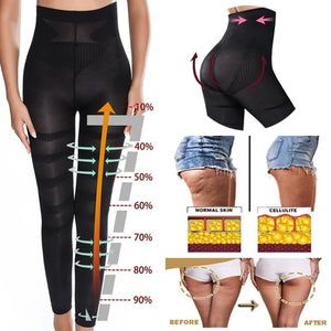 Womens Anti-Cellulite Compression Pantyhose Leggings High Waist Slim Fitness Running Yoga Pants Waist Tights Slimming Tights Pants
