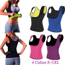 Load image into Gallery viewer, Fabric Waist Trainer Vest Hot Shaper Summer Shaperwear Slimming Adjustable Sweat Belt Body Shaper