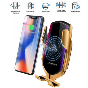 2019 New 10W Fast Car Wireless Charger Qi Phone Charging 360 Degree Rotation Air Vent Car Mount Holder Wireless Charger for IPhone XS XR X 8Plus Samsung S10 S9 S8 Note8