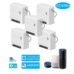 SONOFF MINI DIY Two Way Smart Switch Small Body Remote Control WiFi Switch Support An External Switch Work With Google Home/Nest IFTTT & Alexa