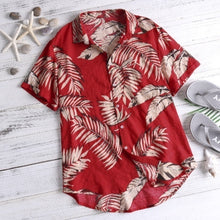 Load image into Gallery viewer, Newest Men/Teenager Beach shirts tropical Aloha Hawaiian Floral Printed Beach Shirts Plus Size S-5XL