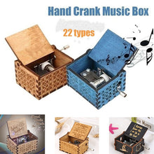 Load image into Gallery viewer, Wooden Hand Crank Music Box TV Series Movie Theme Birthday Holiday Gifts