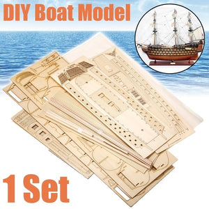 New Funny 1Set Victory HMS Wooden Sailing Boat Model DIY Assembly Kit Gift
