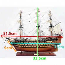 Load image into Gallery viewer, New Funny 1Set Victory HMS Wooden Sailing Boat Model DIY Assembly Kit Gift