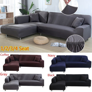 Universal Sofa Cover L Shape Elastic Protector Seater Couch Sofa Washable Cover Cover Decor 2Pcs