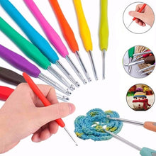Load image into Gallery viewer, 1 Pc Multicolor Knitting Needles Soft Grip with Ergonomic Handle Crochet Hook Yarn Weave Crochet Needles DIY Craft Tools