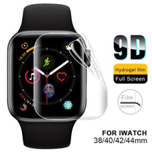 Load image into Gallery viewer, 9D Full Cover Screen Protector for IWatch Series 4 Soft Hydrogel Film for IWatch 1 2 3 4 38mm 42mm 40mm 44mm HD Clear Screen Cover Film