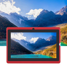 Load image into Gallery viewer, Refurbished Q88 quad-core wifi tablet seven-inch USB power supply 512M+4G red